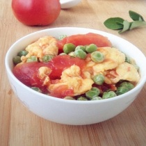 番茄鸡蛋烩豌豆