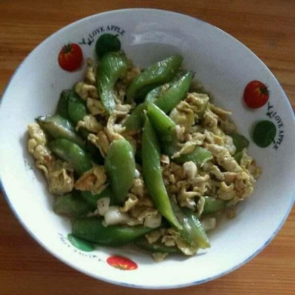 青椒鸡蛋炒丝瓜