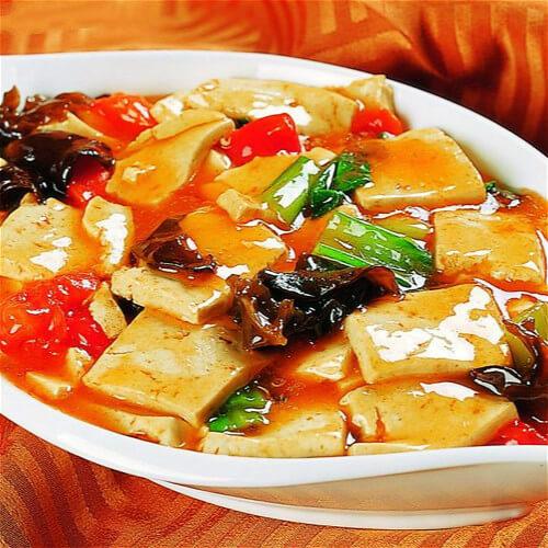 什锦素炒豆腐