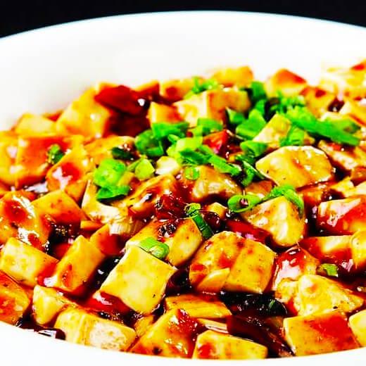 豆豉炖豆腐泡