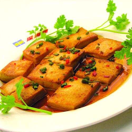 香煎肉茸豆腐