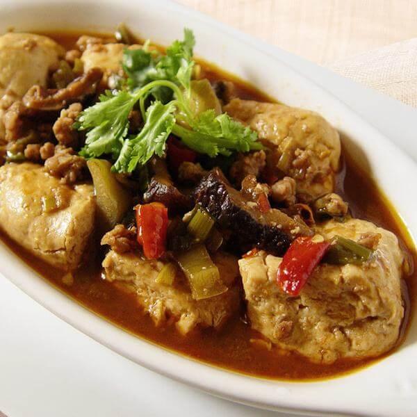可口的香姑烩豆腐