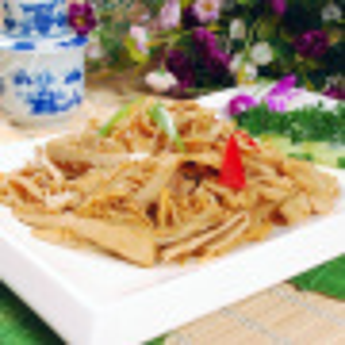 家常菜梅豆炒水笋