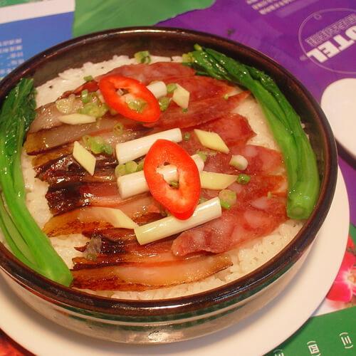 四季豆腊肉干饭