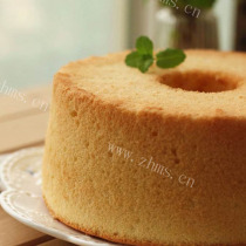 冰酸梅戚风小蛋糕