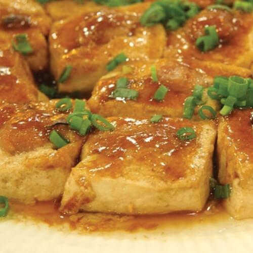 诱人的客家酿豆腐