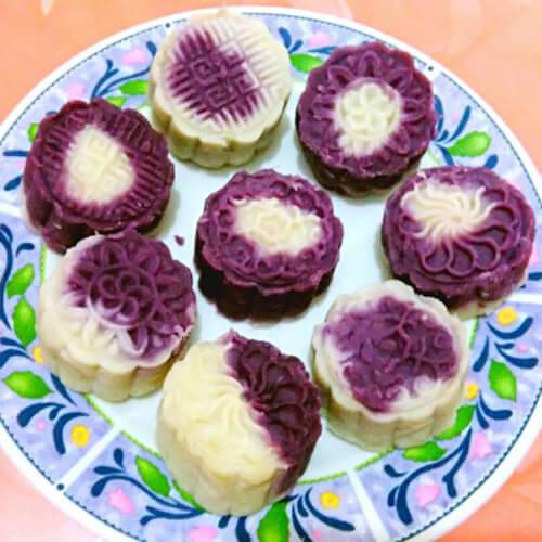 美味山药紫薯糕