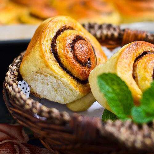 肉桂红糖面包卷