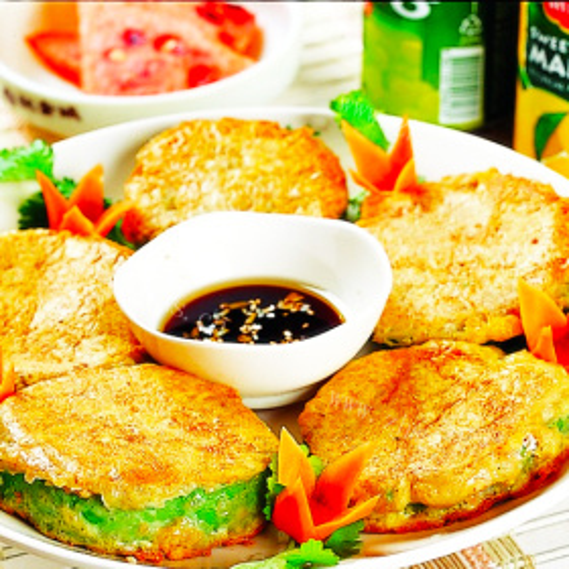 金枪鱼泡菜米饭饼