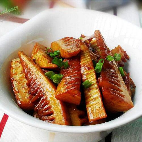 好吃的红肠蚝油焖春笋