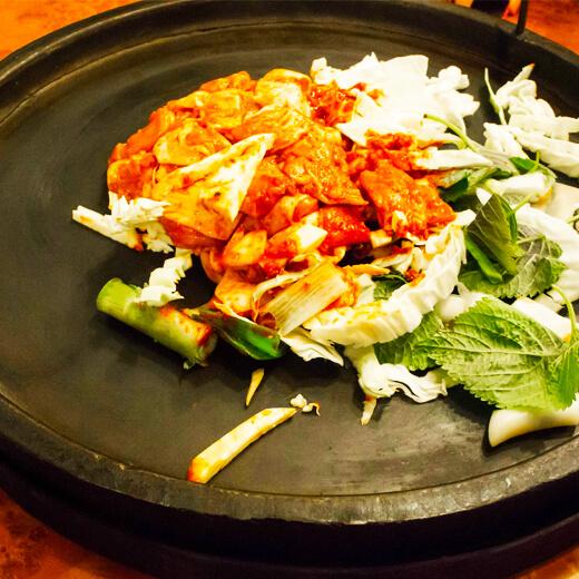 好吃的韩式铁板鸡