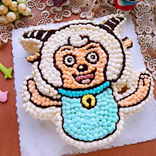 喜羊羊造型裱花蛋糕