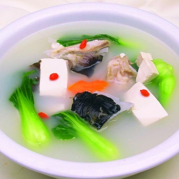 菜苔豆腐汤