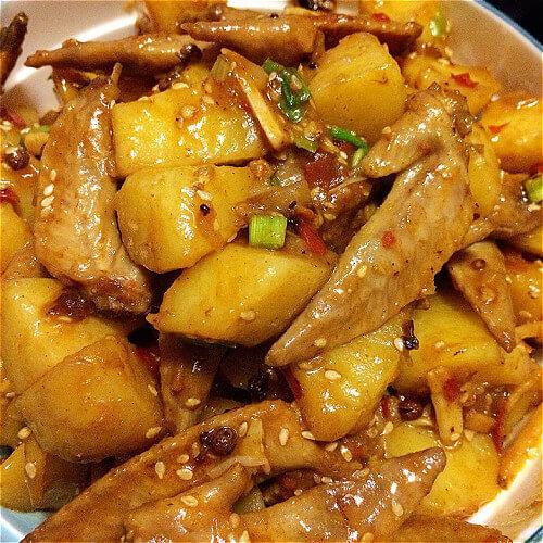 焦香土豆鸡翅