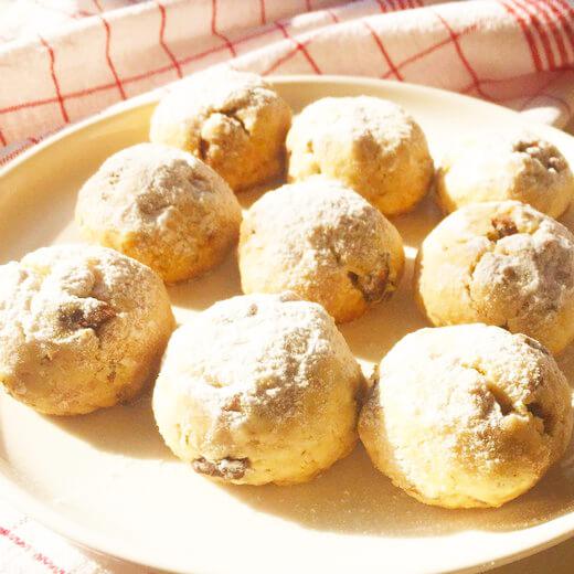 山核桃雪球饼