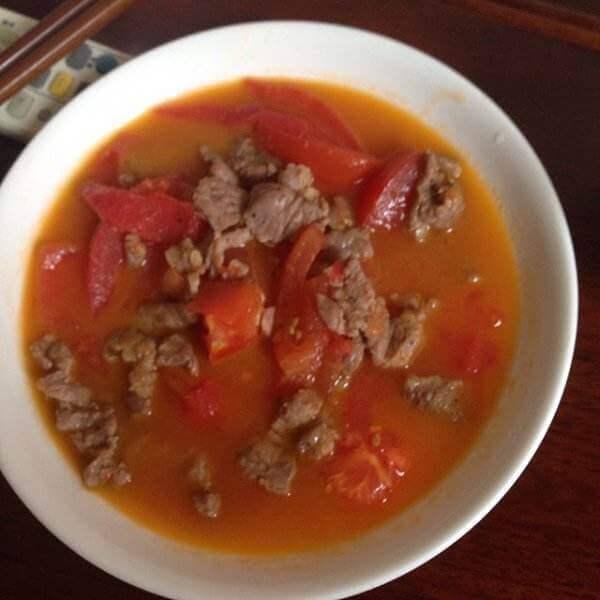 西红柿瘦肉