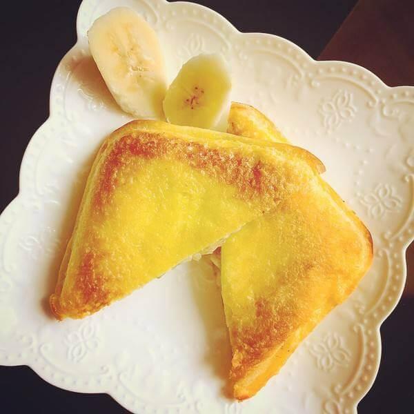 好吃的黄油土司三明治