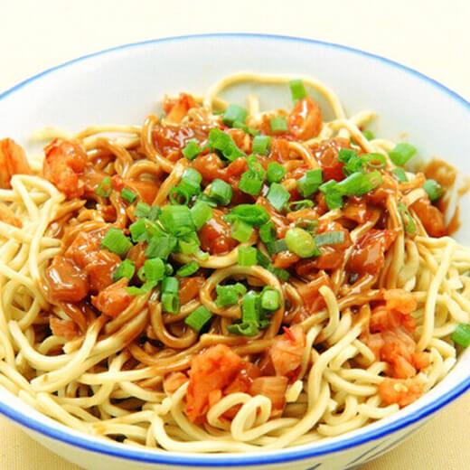 美味的榨菜肉丝米线