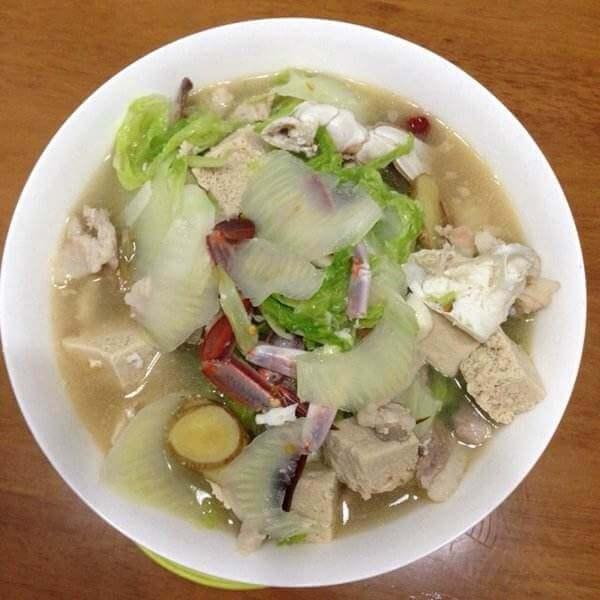 芥菜秧炖豆腐