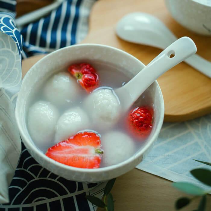 草莓口味汤圆