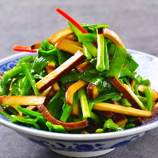 韭菜炒白豆腐干