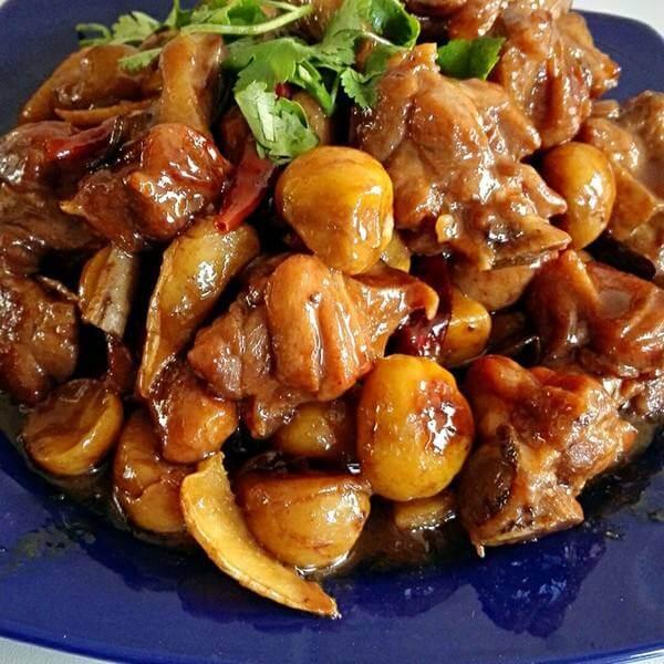 美味青椒杏鲍菇焖鸭