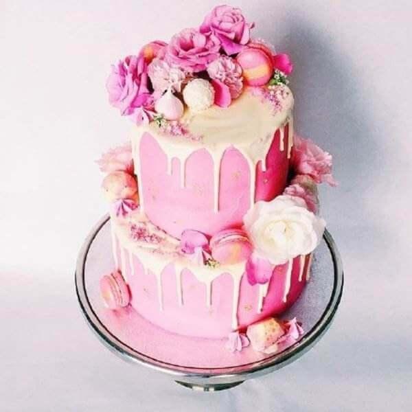 粉色少女蛋糕