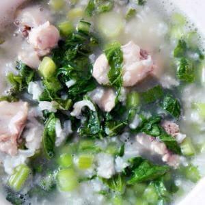 青菜排骨粥