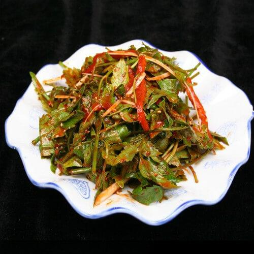 水豆豉拌水芹菜