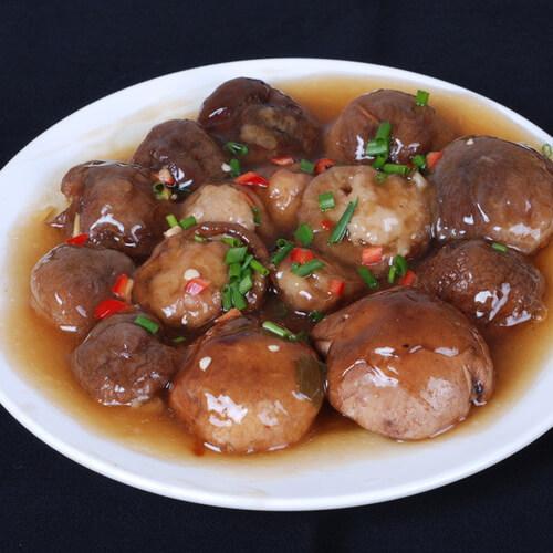 香菇酿肉糜