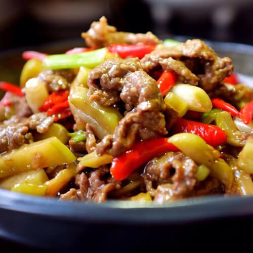 牛肉酱炒酸菜
