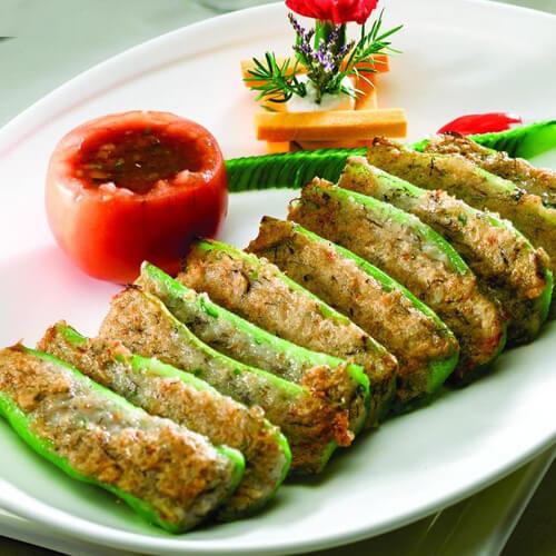 家常豆腐香菇酿青椒