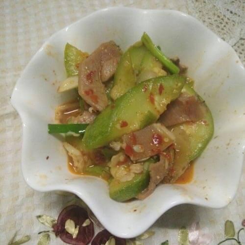 西葫芦烧腊肉