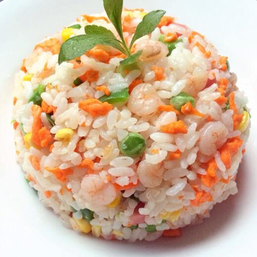 菠虾仁萝炒饭