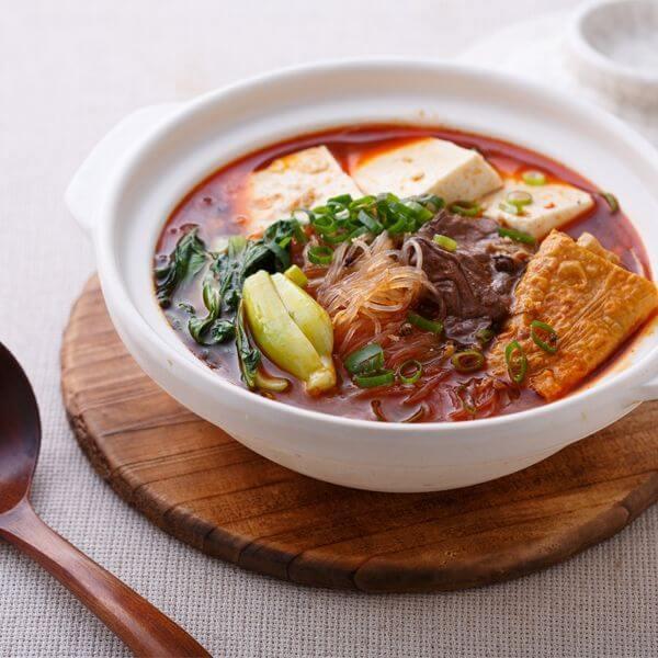 垂涎欲滴的韩式什菜锅