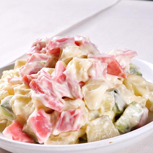 简单而美味的粒粒土豆泥沙拉
