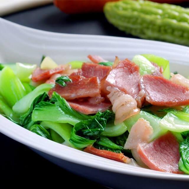 肉炒白菜蘑菇