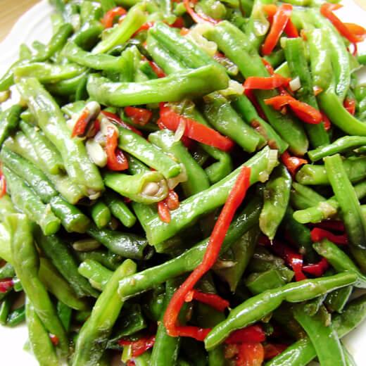 辣椒烧豇豆