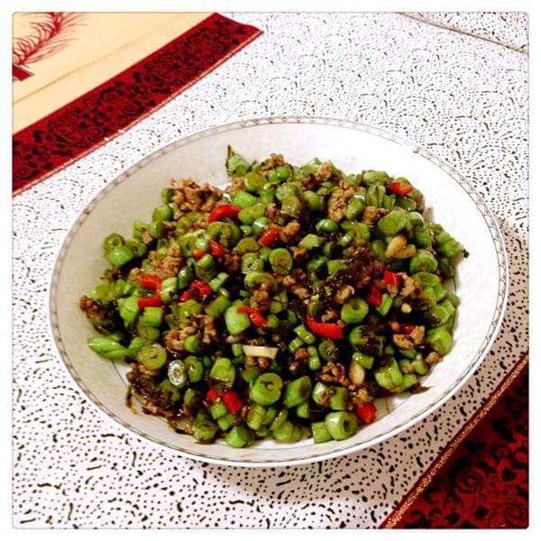 家常的干煸肉沫刀豆