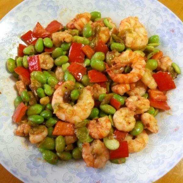 毛豆虾干杂酱