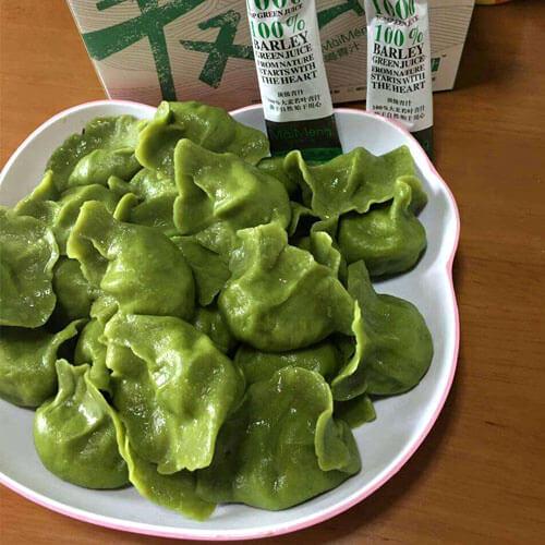 青汁荠菜水饺