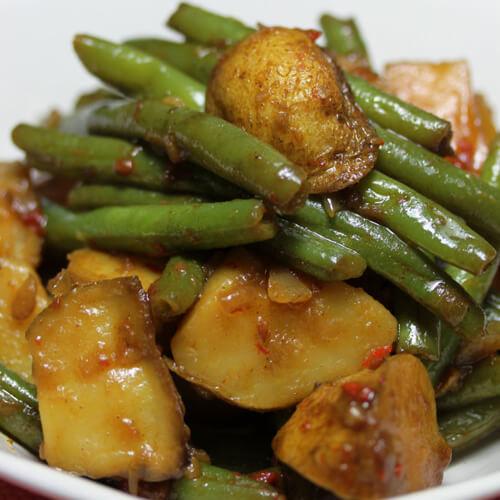 东北豆角炖土豆