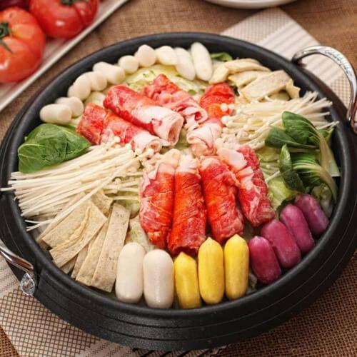 韩国海鲜年糕火锅