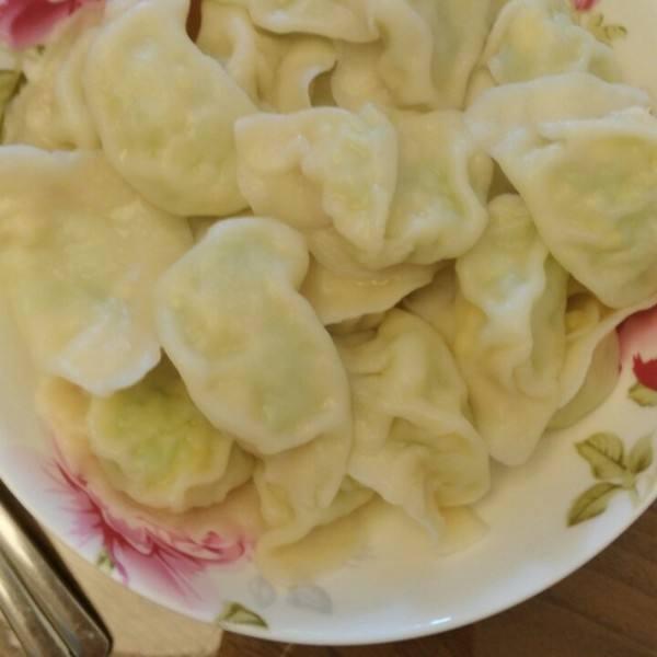 好吃西胡芦鸡蛋虾皮水饺