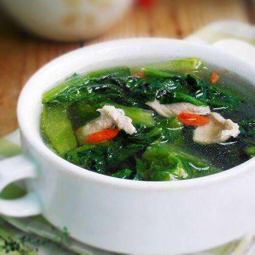 肉片豆角叶汤