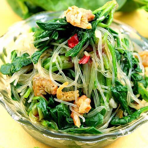 海米粉丝菠菜
