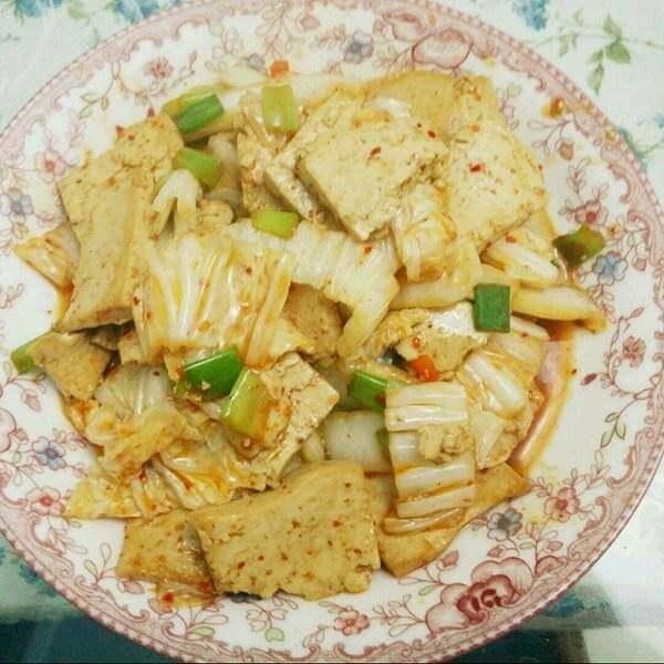 烤肉豆腐白菜