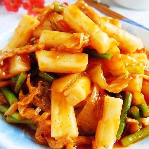 牛肉白菜炒年糕