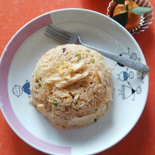 豆腐皮蛋炒饭