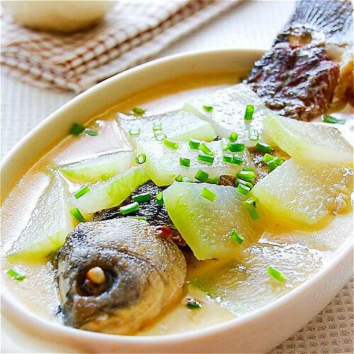 白瓜鱼头汤